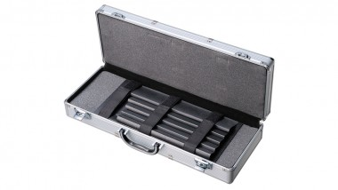 Tojiro Messerkoffer für bis zu 12 Messer silber
