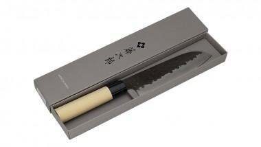 Tojiro DP 3 Lagen HQ Hammered Magnolie Santoku 170mm